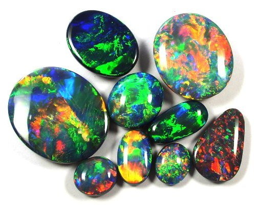 gems mexican opal octagon carved mexico opals gemstone ajs at fire red information natural from