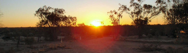 Sunset at Lightning Ridge